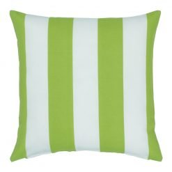 Lime green and white outdoor cushion cover