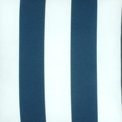 Navy and white striped spun poly cushion cover