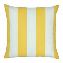 Outdoor cushion cover with yellow stripes