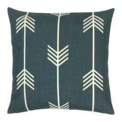 45x45cm outdoor cotton linen cushion cover with arrow design