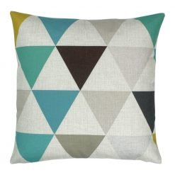 Square Cushion Cover 45x45cm With Triangle Pattern