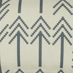Close up of grey rectangular linen cushion cover