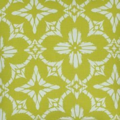 Close up of floral mustard color outdoor cushion cover