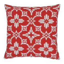 Floral red color outdoor cushion cover