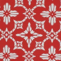Close up of floral red color outdoor cushion cover