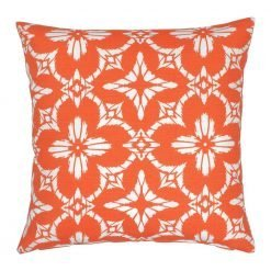 Floral orange color outdoor cushion cover
