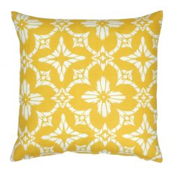 Floral yellow color outdoor cushion cover