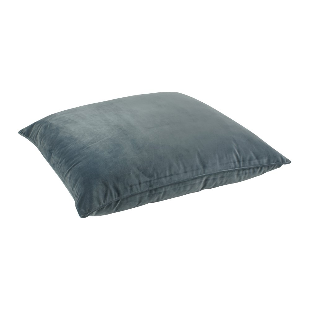 Hipcycle Floor Pillows : Buy Blue Grey Velvet Floor Cushion Cover Online Simply Cushions