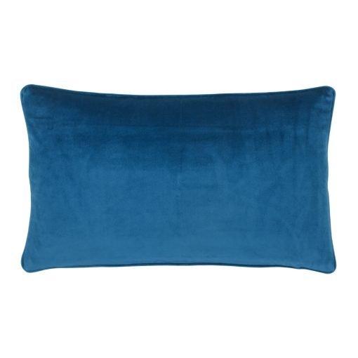 Blue Rectangular Velvet Cushion Cover 30cm x 50cm