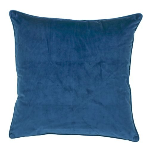 Large 55x55cm monotone blue velvet outdoor cushion
