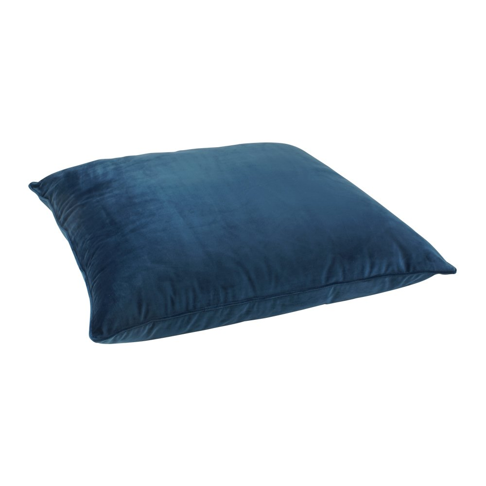 Floor Pillow Covers 25x25 : Buy Blue Velvet Floor Cushion Cover Online Simply Cushions