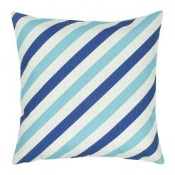 45x45cm Colour Blue Stripe Square Cushion Cover