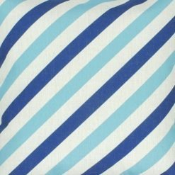 Close up Image of 45x45cm Colour Blue Stripe Square Cushion Cover