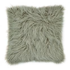 45cm x 45cm Ecru Square Fur Cushion Cover