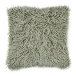 45cm x 45cm Ecru Square Fur Cushion Cover