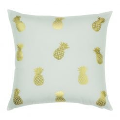 Square Cushion Cover 45x45cm With Gold Petite Pinapple pattern