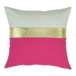 Three Colour Pink Square Cushion Cover 45x45cm