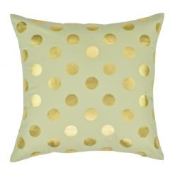 Gold Polka Square Cushion Cover 45x45cm