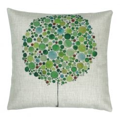 Square Green Bubble Tree Cushion Cover 45x45cm