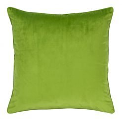 Large 55x55cm monotone green velvet outdoor cushion