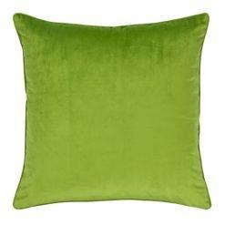 Large 55x55cm monotone green velvet outdoor cushion