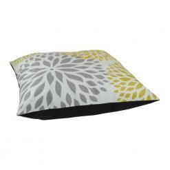 Modern floral design floor velvet cushion