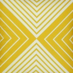 Close up of velvet cushion cover with yellow illusion design