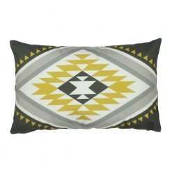 Rectangular aztec inspired outdoor velvet cushion