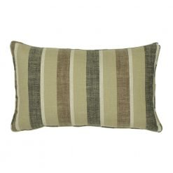 30x50cm chestnut stripe cotton linen cushion cover