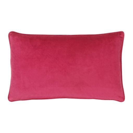 Magenta Pink Rectangular Velvet Cushion Cover 30cm x 50cm
