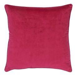 Large 55x55cm monotone magenta velvet outdoor cushion