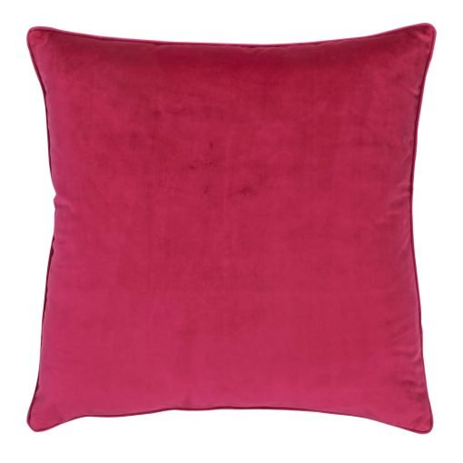 Large 55x55cm monotone magenta velvet outdoor cushion