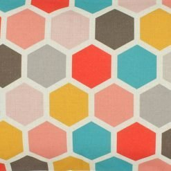Closeup Image of Multi Colour Rectangular Cushion Cover 30x50cm With Hexagon Pattern
