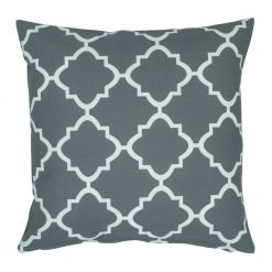 grey and white square outdoor cushion