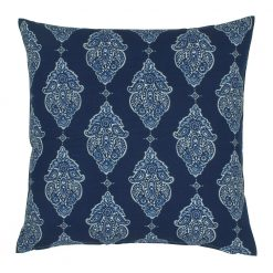 Square navy blue outdoor cushion