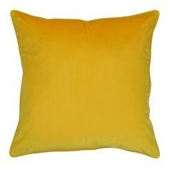 Large 55x55cm monotone mustard yellow outdoor cushion