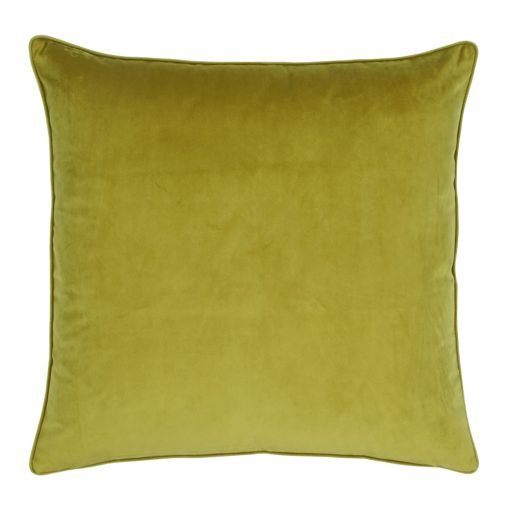 Large 55x55cm monotone olive velvet outdoor cushion