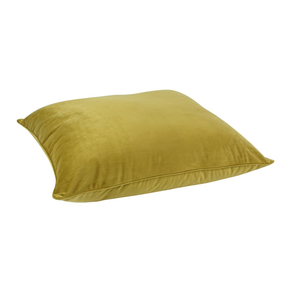 Floor Pillow Covers 25x25 : Buy Mustard Velvet Floor Cushion Cover Online Simply Cushions