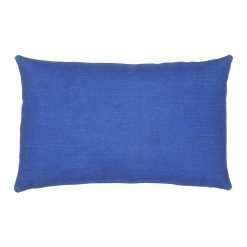 Single tone blue rectangular cotton linen cushion cover
