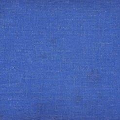 Close up of blue monotone rectangular cotton linen cushion cover