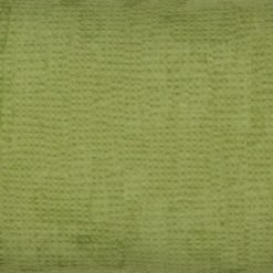 Close up of green rectangular cotton linen cushion cover
