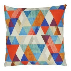 Multi Colour Triangle Pattern Square Illusions Cushion Cover 45x45cm