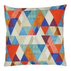Multi Colour Triangle Pattern Square Illusions Cushion Cover 45x45cm