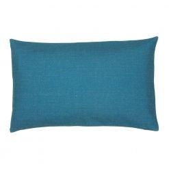 Single tone Egyptian blue rectangular cotton linen cushion cover