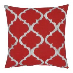 Red white square outdoor cushion cover