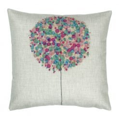 Square Purple Bubble Tree Cushion Cover 45x45cm