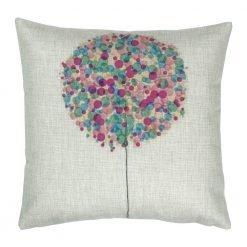 Square Purple Bubble Tree Cushion Cover 45x45cm
