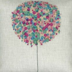 Closeup Image of Purple Bubble Tree Cushion Cover 45x45cm