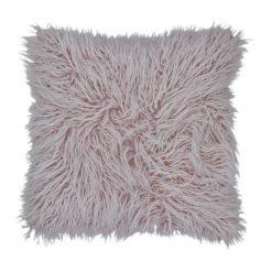 45cm x 45cm Square Fur Purple Cushion cover