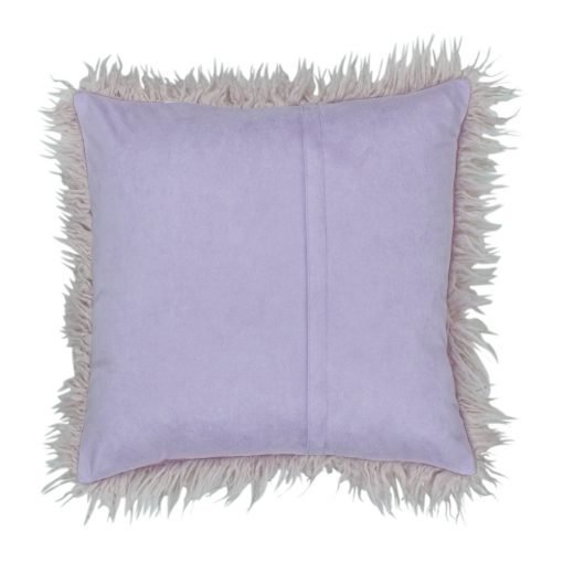 Purple back Cushion cover Square Fur With Zipper